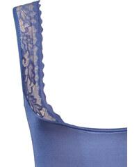 Lesara Shapewear-Top mit Spitze - Blau - M