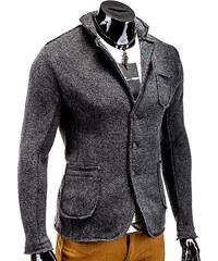 Lesara Sweat-Jackett mit Seitentaschen - Dunkelgrau - S