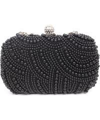 Lesara Clutch mit Perlen-Verzierung - Schwarz