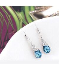Lesara Tropfen-Ohrhänger mit Swarovski Elements - Blau