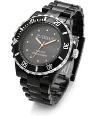 Lesara Silikon-Armbanduhr mit Swarovski Elements - Schwarz