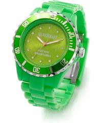 Lesara Silikon-Armbanduhr mit Swarovski Elements - Grün