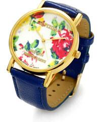 Lesara Armbanduhr mit Blüten-Zifferblatt - Blau