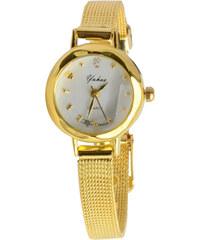 Lesara Klassische Armbanduhr mit rundem Gehäuse - Gold
