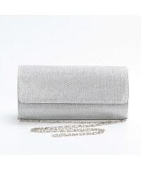 Lesara Clutch mit Umschlagklappe - Silber