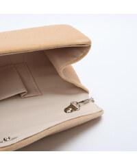 Lesara Samt-Clutch im Envelope-Design - Beige