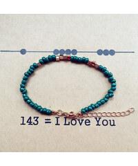 Lesara Armband I Love You - Grün