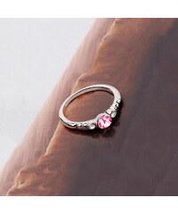Lesara Ring mit Swarovski Elements und Strass-Steinen - Pink - 52