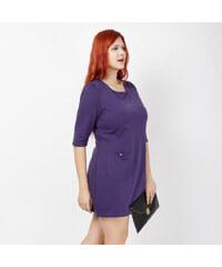 Lesara Kurzes Kleid mit Eingrifftaschen - Violett - 48