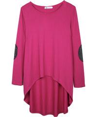 Lesara Langarmshirt mit Ellbogen-Patches - Pink - S