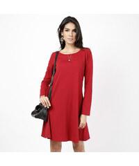 Lesara Langärmeliges Kleid unifarben - S