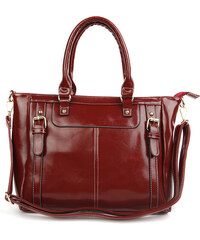 Lesara Handtasche in Glanzleder-Optik - Rot