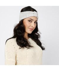 Lesara Gestricktes Stirnband mit Knoten - Beige