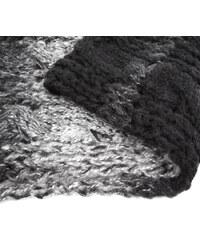 Lesara Zweifarbig gestrickter Schal - Schwarz