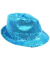 Lesara LED-Trilby-Hut mit Pailletten - Blau