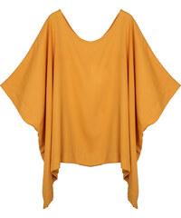 Lesara Shirt im Poncho-Stil - Orange - S