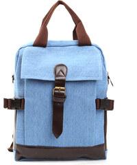 Lesara 2-in-1-Canvas Rucksack & Tasche - Blau