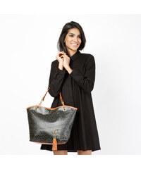 Lesara Handtasche in Trapezform - Schwarz