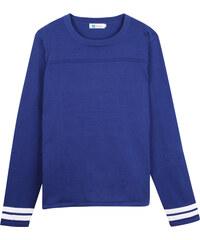 Lesara Sweater mit Streifen-Details - Blau - 48