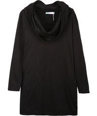 Lesara Sweatkleid mit Wasserfallkragen - Schwarz - S
