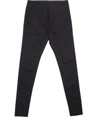 Lesara Skinny-Jeans mit Knopfleiste - Schwarz - 36
