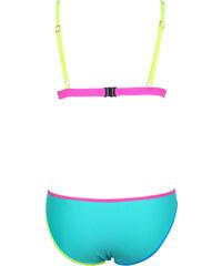Lesara Bikini im Farbblock-Design - Türkis - S