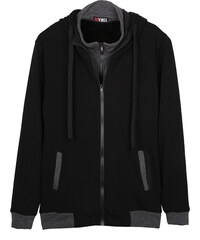 Re-Verse Sweatjacke im 2-in-1-Design - Schwarz - S