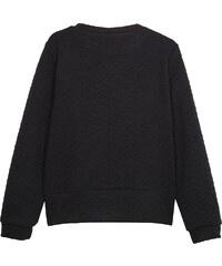 Lesara Sweater mit Struktur-Muster & Reißverschluss-Details - Schwarz - S
