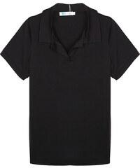 Lesara Poloshirt unifarben - Schwarz - S