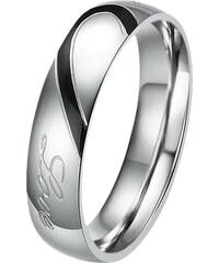 Lesara 2-teiliges Partner-Ring-Set Love - Groß