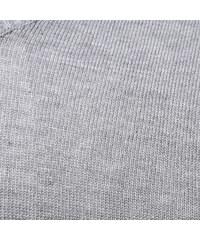 Re-Verse Pullover mit V-Ausschnitt & Streifen-Details - Hellgrau - S