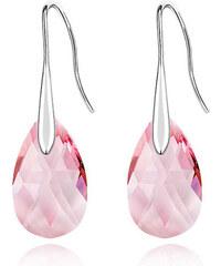 Lesara Tropfen-Ohrhänger mit Swarovski Elements - Pink