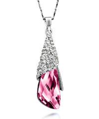 Lesara Halskette Tropfen mit Swarovski Elements & Strass - Pink