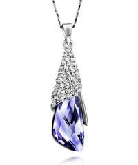 Lesara Halskette Tropfen mit Swarovski Elements & Strass - Violett