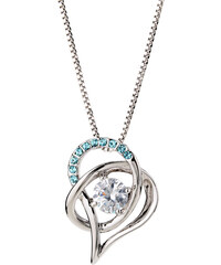 Lesara Halskette Herz mit Swarovski Elements - Blau