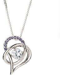 Lesara Halskette Herz mit Swarovski Elements - Violett