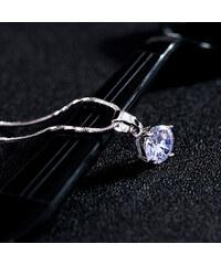 Lesara Halskette mit kleinem Swarovski Elements - Silber