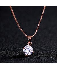 Lesara Halskette mit kleinem Swarovski Elements - Gold