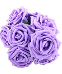 Lesara 10er-Set Deko-Rosen - Violett