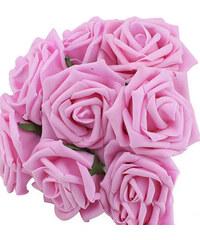 Lesara 10er-Set Deko-Rosen - Pink