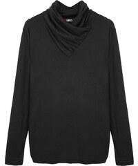 Re-Verse Rollkragen-Sweater unifarben - Schwarz - L