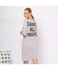 Lesara Nachthemd Sleep All Day - Grau - M – 40