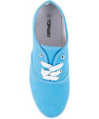 Lesara Schnürschuh mit farbig abgesetzten Schnürsenkeln - Blau - 36