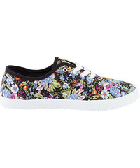 Lesara Sneaker mit Blumen-Muster - Blau - 37