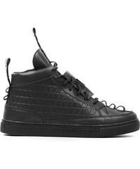 Lesara High-Top-Sneaker mit Stepp-Muster - Schwarz - 39