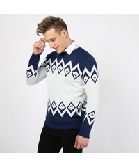 Lesara Sweater mit Rauten-Muster - Dunkelblau - S