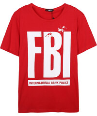 Re-Verse T-Shirt mit FBI-Print - Rot - S