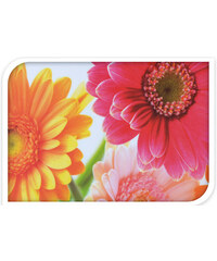 Lesara Tablett mit Blumen-Motiv - Gerbera