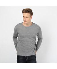 Re-Verse Basic-Pullover mit Rundhalsausschnitt - Grau - S