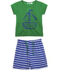 Lesara 2-teiliges Set für Kinder mit Shirt & Hose Marine - Grün - 50